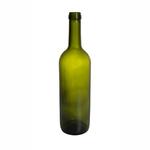 Бутылка стеклянная для вина Bordeaux оливковая, 750 мл