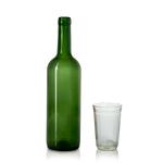 Бутылка стеклянная для вина Bordeaux зелёная, 750 мл