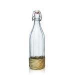 Граненая бутылка 1 л с механической пробкой