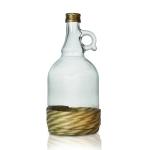Бутылка 1 л с ручкой и винтовой пробкой (в оплётке)
