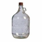 Бутыль стеклянная «Виноград», 5 л (с ручкой)