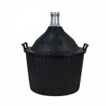 Бутыль винная 54 л в пластмассовой корзине