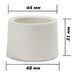 Пробка для бутыли силиконовая белая 44-48 мм