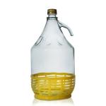 Бутыль 5 л с винтовой крышкой в пластмассовой корзине
